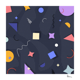 memphis pattern with geometric shapes