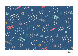 Trendy memphis style seamless pattern colorful geometry