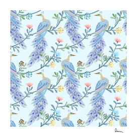 beautiful peacock seamless pattern