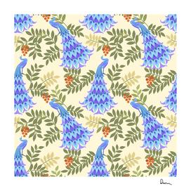peacock vector design seamless pattern fabric textile