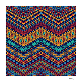 full color pattern with ethnic ornaments