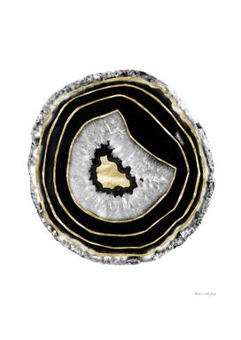 Moon Stone Agate Gold Foil Glam #2 #gem #decor #art