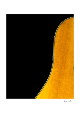 Acoustic Guitar Abstract Curve no 3.