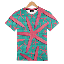 Starfish in Turquoise and Pink