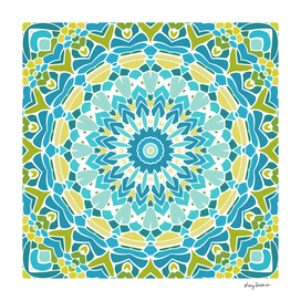 Lime Green and Turquoise Mandala