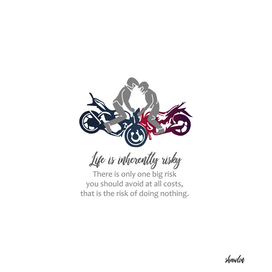 Motorbikers performing stunts- Biker inspirational quotes