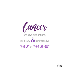 Cancer survivor quotes- Give up or fight like hell