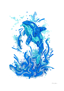 Blue Orca Whale