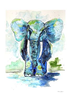 Chubby Blue Elephant