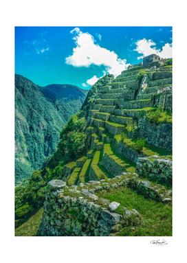 Terraces of Macchu Pichu City, Cusco - Peru