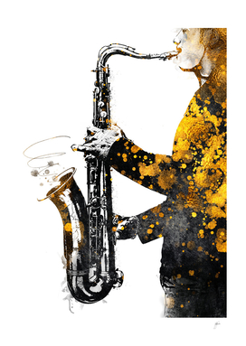 Saxophone music art gold and black #saxophone #music
