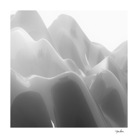 Abstract Swirl Polished White