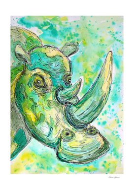 Strange Green Rhinoceros