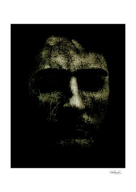 Creepy Halloween Human Head Artwork