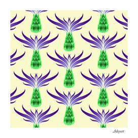 thistles purple flora flowering