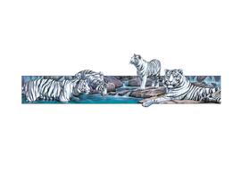 White Tigers Basking