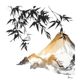 ink wash painting bamboo japanese painting japan