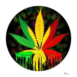 cannabis leaf color