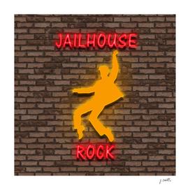 Jailhouse rock neon light