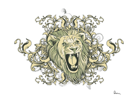 Lion Visual Arts Motif Head