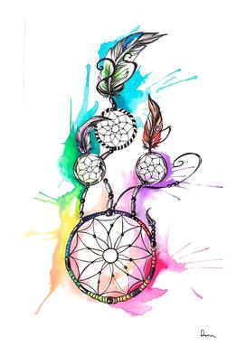 dreamcatcher tattoo clip art watercolor