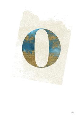 Letter O - Blue Opulence