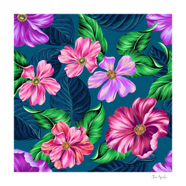 Fancy Tropical Floral Pattern