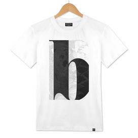 Letter B - entangled black and white