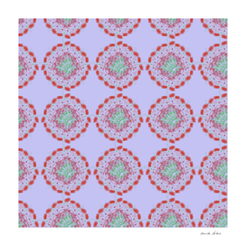 Abstract vintage pattern of floral elements