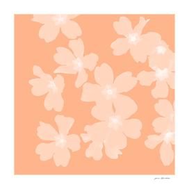 Primrose pattern coral pink