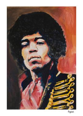 Jimi Hendrix Portrait painting