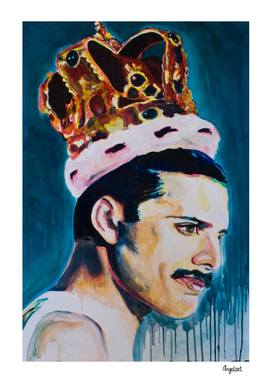 Freddie Mercury portrait painting Singer Queen