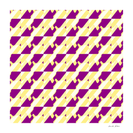 diagonal pattern with purple curves and yellow stripes