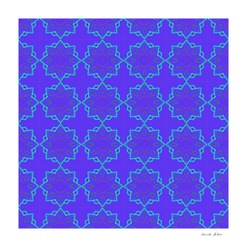 geometric tile retro pattern using blue and cyan