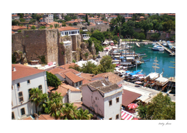 Panorama of the old city of Antalya