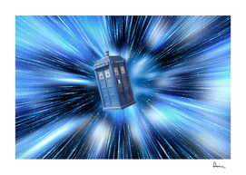 Doctor Who's TARDIS travelling through time BBC