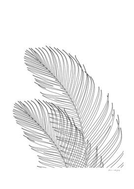 Palm Leaves Finesse Line Art #1 #minimal #decor #art
