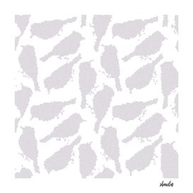 Birds in mosaic effect