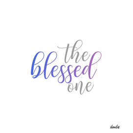 The blessed one- Mindful quote for yoga lovers