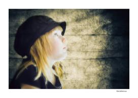 Little girl in retro cap
