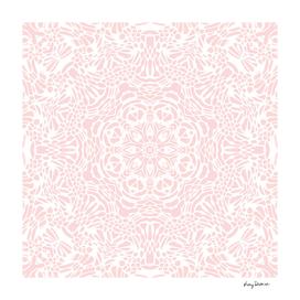 Blush Pink & White Mandala