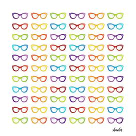 Colorful summer vintage eyewear goggles in  cat eye