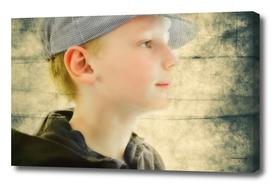 boy in retro cap