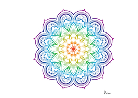 mandala coloring book buddhism illustration