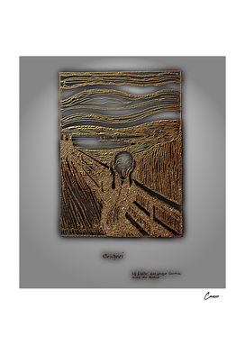 After Edvard Munch The Scream in Gold