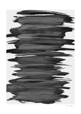 Black Abstract Minimalism #2 #minimal #ink #decor #art
