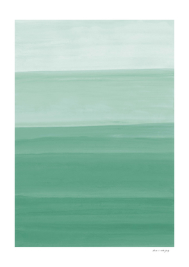 Touching Green Watercolor Abstract #1 #painting #decor #art