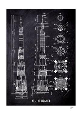 N1 rocket blueprint