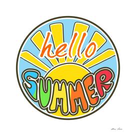Hello Summer, colorful design, summer t shirt, summer poster