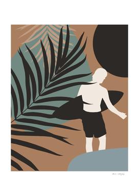 Midnight Surfer Abstract Minimalism #1 #minimal #decor #art